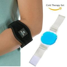 Elbow Brace with Gel Compression and Cold Therapy Relief - The Cold & Hot Therapy Shop - Only 18.99$! - Click to read more. #cold #heat #therapy #wrist #hand #pain #fitness #sports #recovery #health #hurt #relief