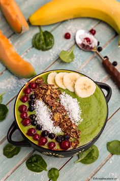 Acai Bowl, Cantaloupe, Detox, Breakfast, Food, Green, Acai Berry Bowl, Morning Coffee, Essen