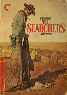 "The Searchers - John Ford 1956 - DVD00208 -- ""Based on the novel by  Alan Le May. As a Civil War veteran spends years searching for a young niece captured by Indians, his motivation becomes increasingly questionable."""