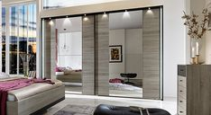 Kleiderschrank spiegel modern  Kleiderschrank Calvia 271,0 cm Sanremo Lava 8345. Buy now at https ...