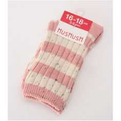 【セール】◆ネップボーダークルーソックス(HusHush [ハッシュアッシュ] のレッグウェア)