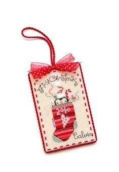 Photo: Stitcher - E. Designer - Brook's Books Design Name - First Christmas Baby's First Christmas Gifts, Baby First Christmas Ornament, Baby Ornaments, Babies First Christmas, Christmas Gift Tags, Cross Stitch Christmas Ornaments, Christmas Cross, Christmas Fun, Christmas Decorations