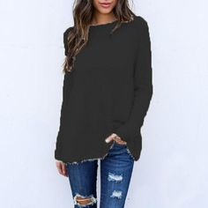 Enjoy exclusive for Benlet New Fashion Women Casual O-Neck Long Sleeve Pullover Loose Sweater Boat Neck online - Newtoprated New Fashion, Fashion Outfits, Fashion Women, Loose Knit Sweaters, Long Sleeve Sweater, Sweaters For Women, Pullover, Sleeves, Boat Neck