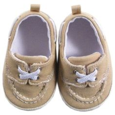 Amazon.com: Luvable Friends Boy's Slip-on Shoe for Baby, Beige, 12-18 Months: Clothing
