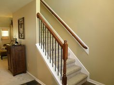 Smothery Stair Railing Ideas Along With Wooden Stair Railing Ideas ...