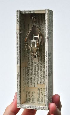 Dutch box sculptor Peter Gabrielse. book - Google Search Found Object Art, Found Art, Altered Boxes, Altered Art, Matchbox Art, Dioramas, Assemblage Art, Collages, Collage Art