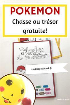 Pensez à télécharger gratuitement le jeu de piste pokemon pour animer votre anniversaire pokemon en français #jeu #pokemon #anniversaire #pikachu #printable