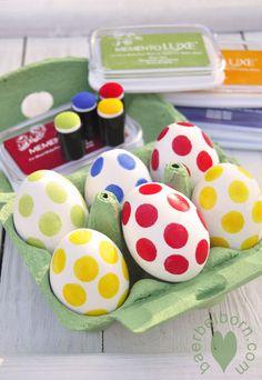 easter eggs in polka dot