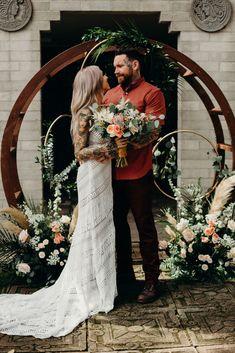 Modern Bohemian Wedding Inspiration - Orlando Wedding and Party Rentals Bohemian Wedding Inspiration, Boho Wedding, Rustic Wedding, Wedding Ceremony, Dream Wedding, Wedding Ideas, Wedding Stuff, Forest Wedding, Wedding Things