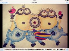 My drawing of minions