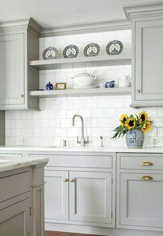 Best rustic farmhouse gray kitchen cabinets ideas (17) #kitchencabinet