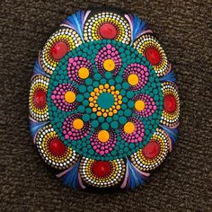 Mandala stone... Huge rock as big as the size of a palm, 6 inch diameter. #dot #dotworktattoo #zentanglemandalalove #mandala #mandalas #mandalaart #arts #painting #art #handmade #wellness #decor #homedecor #paintings #ilovesharingmandala #artstagram #instaart #instaartist #acrylicpainting #acrylics #handmadeart #meditation #peace #crafts #craft #colors #color #beautifulhomes #home #pointillism