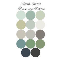 Earth Colour Palette, Green Colour Palette, Muted Colors, Earth Tone Colors, Calming Colors, Accent Colors, Mint Color Palettes, House Color Palettes, Paint Palettes