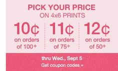 Pick Your Own Price on 4x6 Prints