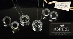 85% off a glistening 18ct white gold-plated necklace & earring set made with Swarovski Elements – dazzle your sweetheart or complement an evening outfit
