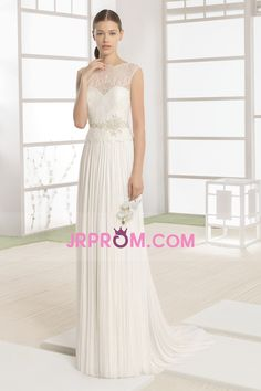 66d82741 2017 Tulle & Lace A Line Wedding Dresses Scoop With Sash Sweep Train US$  189.99 JRPMM35DA3 - JrProm.com for mobile