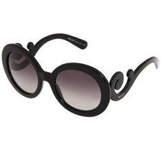Prada Women's PR 27NS Black Minimal-baroque Round Sunglasses