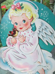 Vintage Angel Die Cut!...* 1500 free paper dolls including Christmas dolls international artist and author Arielle Gabriel's The International Paper Doll Society for my Pinterest paper doll pals *
