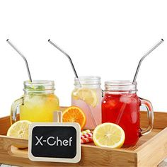 11.18$  Watch now - http://videg.justgood.pw/vig/item.php?t=y8h4zp524885 - Fashion Women's Accessorie Hat Drinking Straws XChef Stainless Steel Beverage 79 inch for Juice Milk Yeti Tumbler Soda WaterReusablePreBendWith Cleaning Brushes h l w 5589561 bend X-Chef