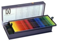Holbein-colored-pencil-150-color-set-Kamihako - THESE ARE VERY EXPENSIVE, BUT ONE DAY.....