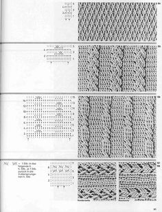 Knitting Stiches, Cable Knitting, Crochet Stitches Patterns, Stitch Patterns, Crochet Diagram, Crochet Chart, Crochet Motif, Crochet Cable Stitch, Crochet Symbols