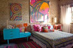 O charme dos tijolinhos aparentes: uma casa BoHo e colorida na Argentina | Casinha colorida