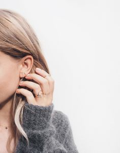 Dainty jewellery #Street #Style #style #fashion #jeanlouisdavid #girl #fashion #city #sexy #loveit #trendy #musthave #spirit #energy #city #style Inspiration Jean Louis David