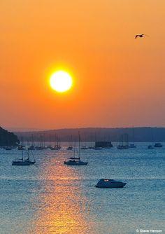 Sunset : PicturesOfEngland.com Poole Harbour,Dorset