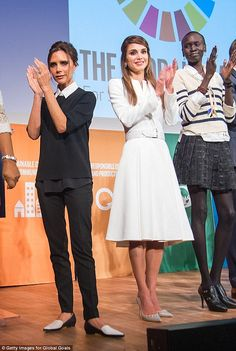 Victoria Beckham and Queen Rania of Jordan met on Day 1 of the Social Good Summit in New York City - and it seems that Victoria took a liking to the royal who she has a lot more in common with than meets the eye