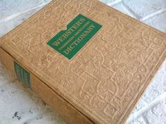 Large 50's  vintage illustrated deluxe edition Webster's unabridged encyclopedic dictionary by Hannahandhersisters on Etsy