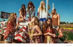 Barbara Palvin, Erin Heatherton, Frida Gustavsson Wear Festival Style for Rosa Cha Spring 2015 Ads