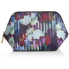Ted Baker Hanging Gardens Extra Large Cosmetic Case ($49) ❤ liked on Polyvore featuring beauty products, beauty accessories, bags & cases, navy, travel bag, toiletry bag, make up purse, wash bag and ted baker