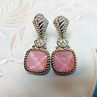 Judith Ripka Sterling Pink Glass X Style Pattern Diamonique Earrings New in Box - diamonique, Earrings., Glass, Judith, Pattern, Pink, Ripka, Sterling, Style - http://designerjewelrygalleria.com/judith-ripka/judith-ripka-earrings/judith-ripka-sterling-pink-glass-x-style-pattern-diamonique-earrings-new-in-box/