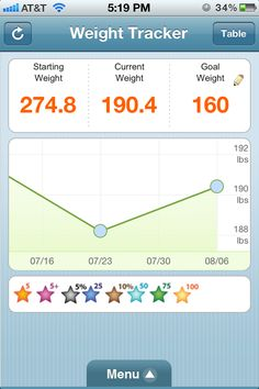Weight Watchers Weekly Weigh in