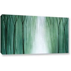 Herb Dickinson Misty Walk Gallery-Wrapped Canvas, Size: 26 x 48, Blue