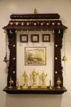 Discover beautiful pooja room designs in wood for your living room, bedroom and hall. These pooja room designs in wood are apt for flats and apartments. Temple Room, Home Temple, Design Seeds, Temple Design For Home, Mandir Design, Pooja Mandir, Pooja Room Door Design, Indian Interiors, Puja Room