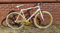 93a88bfc3 Rare Goose Island Fixed Gear Single Speed Bicycle White Gold
