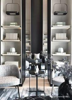 Beautiful Design for Shelves Classic Interior, Modern Interior Design, Interior Design Inspiration, Interior Architecture, Shelf Design, Cabinet Design, Living Room Designs, Living Spaces, Chinese Interior