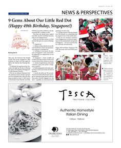 9 Gems About Our Little Red Dot, Happy 49th Birthday, Singapore! --- (Epoch Times, Singapore Edition: Issue 492, August 8 – August 21, 2014)