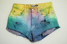 DIY tye dye jean shorts