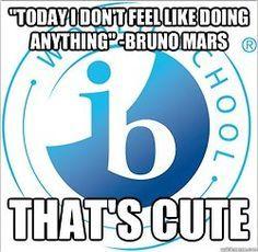 Bruno wasn't in IB