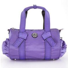 Lululemon Athletica Purple Duffel Crossbody Bag Yoga Wear 00771534e8a7f