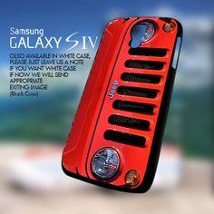 Red Jeep Wrangler-Samsung Galaxy s4 Case | GoToArt - Accessories on ArtFire