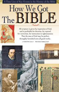 """How We Got The Bible Pamphlet - Following Jesus is an easy-to-use Christian discipleship guide. It helps you mentor believers to grow in faith. This short booklet is a basic Christian discipleship curriculum that covers the key topics including """"Salvation, Sin and Forgiveness, """"Prayer, Bible Study & Church,"""" """"Fears, Doubts & Trust,"""" """"Spiritual Gifts, Giving & Sharing,"""" and """"Reliability of the Christian Faith.""""Size: 8.5""""x 5.5"""" unfolds to 33"""" long. Fits inside most Bible covers."""