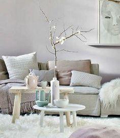 Soft pastels,soft icelandic sheepskins.