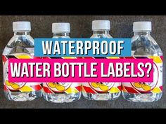 Want the best way to make waterproof water bottle labels? We tested all the papers and DIY techniques to find the right choice for your budget and schedule. Mickey Mouse Photo Booth, Mickey Mouse Photos, Acrylic Spray, Clear Acrylic, Printable Water Bottle Labels, School Labels, Vinyl Sticker Paper, Mickey Birthday, Label Paper