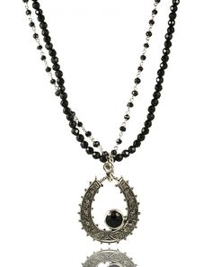Caracol - Inspired Jewelry - Sterling Silver Horseshoe Necklace with Black Topaz, $199.00 (http://www.caracolsilver.com/sterling-silver-horseshoe-necklace-with-black-topaz/)