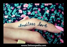 small girly tattoos - endless love | JenL.