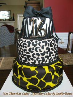 """Zebra Cakes For Teenage Girls 