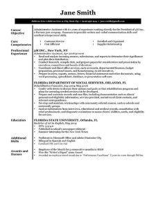 Resume Template B&W Executive